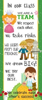 DOROTHY  & OZ  - Classroom Decor: LARGE BANNER, In Our Class / Land of Oz