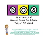 "DOS: the ""Uno-Like"" Speech Sound Card Game - R SOUND"