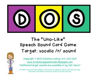"DOS: the ""Uno-Like"" Speech Sound Card Game - VOCALIC R SOUND"