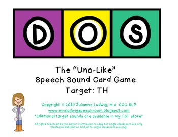 "DOS: the ""Uno-like"" Speech Sound Card Game: TH SOUND"