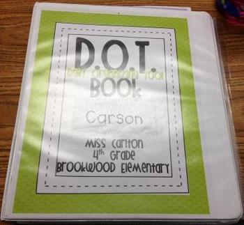 D.O.T. Book (Daily Organizing Tool)