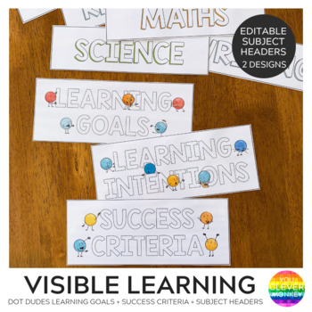 DOT DUDES Editable Learning Intentions + Success Criteria Pack