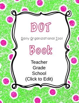DOT Folder: Green & Pink