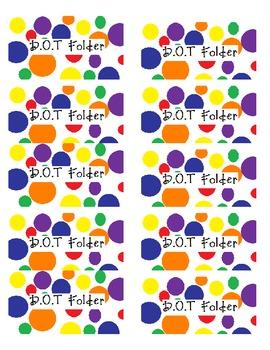DOT Folder Labels