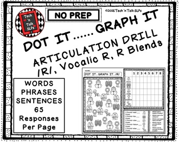 DOT IT ... GRAPH  - IT ARTICULATION DRILL FOR /R/, Vocalic /R/ , and /R/ BLENDS