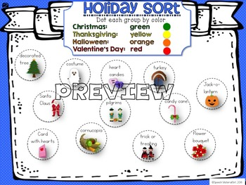 Speech Therapy DOT THE SPOT growing bundle Categories Sorting Grouping Activity