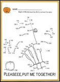 """SKELETON SCIENCE or HALLOWEEN MATH """"COUNT BY 5s"""" ACTIVITY SHEET-GRDS K-4!!"""