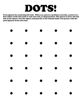 DOTS Game board