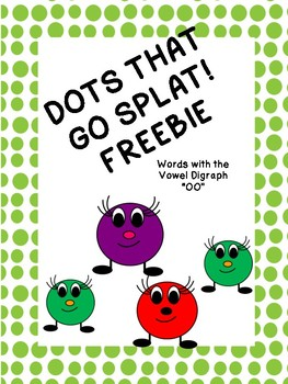 """DOTS THAT GO SPLAT! """"oo"""" vowel digraph Card Game"""
