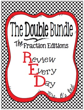 DOUBLE Bundle - R.E.D. Review Every Day - Fraction Editions