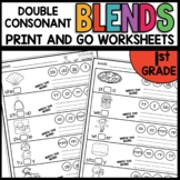 DOUBLE CONSONANT PRINT AND GO FIRST GRADE WORKSHEETS
