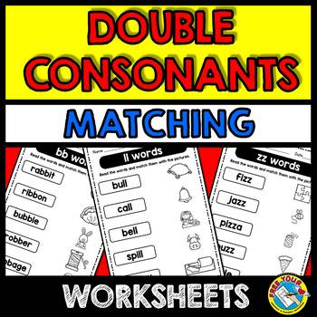 DOUBLE CONSONANTS PRINTABLES (PHONICS WORKSHEETS) WORD WORK ACTIVITIES