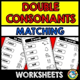 DOUBLE CONSONANTS ACTIVITIES (WORD WORK PHONICS WORKSHEETS)