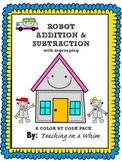 DOUBLE DIGIT ADDITION & SUBTRACTION WITH REGROUPING- COLOR BY CODE