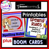 Double-Drop-Change: Spelling Rules + ADDED BONUS: SPELLING RULES BOOM CARDS