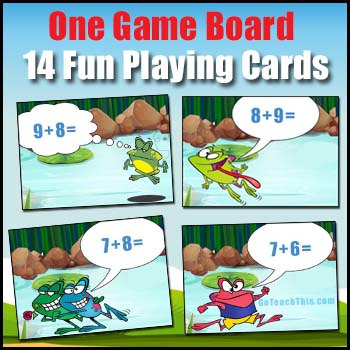 Doubles Plus One - Addition Game - Doubles +1 - Jump - a Math Game FREEBIE