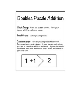 DOUBLES PUZZLE ADDITION