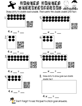 DOUBLES practice with QR codes