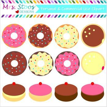 DOUGHNUTS CLIP ART DOLLAR DEAL!