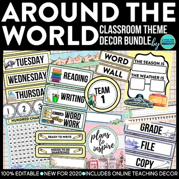 DOWN TO EARTH - classroom design bundle (polka dot theme)