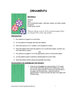 DOWNLOADABLE ORNAMENTS CUT AND PASTE  ART PROJECT PATTERN PACKET
