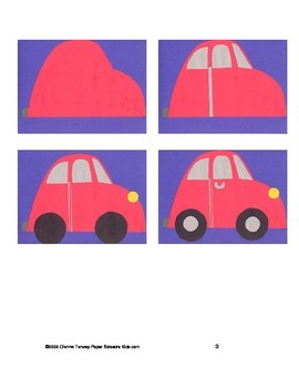 DOWNLOADABLE VW BETLE CUT AND PASTE ART PROJECT PATTERN PACKET