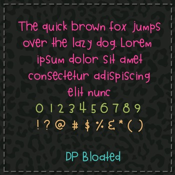 DP Bloated Font: Personal Use