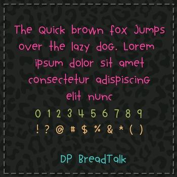DP Bread Talk Font: Personal Use