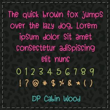 DP Cabin Wood Font