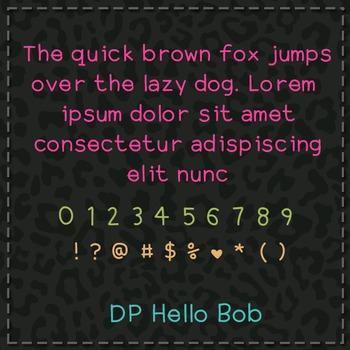 DP Hello Bob Font: Personal Use