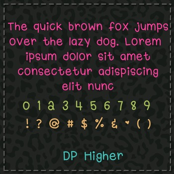 DP Higher Font: Personal Use