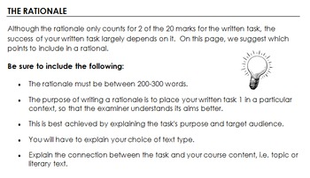 IB Language and Literature SL/HL - Written Task Booklet