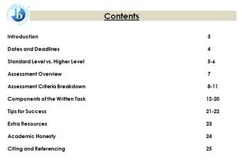 IB Language and Literature SL/HL - Written Task Booklet