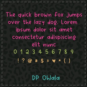 DP Ohlala Font: Personal Use