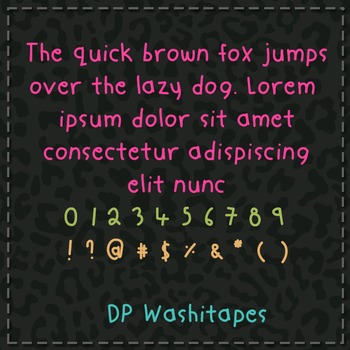 DP Washitape Font: Personal Use
