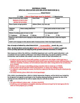 DPI Referral Form (R-1)
