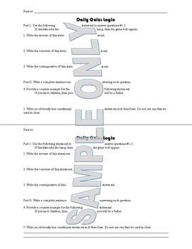 Daily Quiz: Logic
