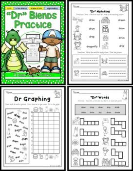 DR Blend Practice Printables