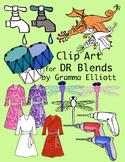 DR Blends Phonics Clip Art – Realistic – Color and Black L