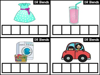 DR Blends Phonics Center:  Build the Word