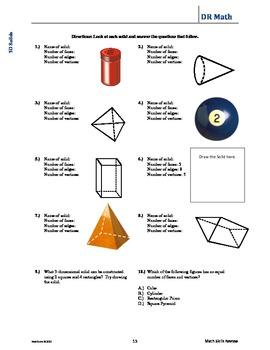 DR Math Skills Review Workbook Sample