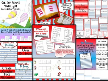 DR. SEUSS Inspired Primary Writing and Math MEGA BUNDLE 7