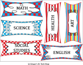March Theme * Classroom Decor * Editable