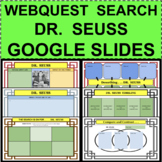 DR. SEUSS WebQuest Biography Search GOOGLE SLIDES Distance Learning