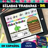DR Syllables in Spanish - Sílabas Trabadas DR - Boom Cards