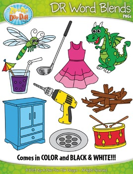 DR Word Blends Clipart {Zip-A-Dee-Doo-Dah Designs}
