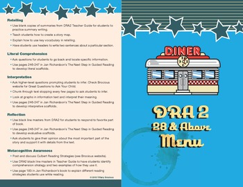 DRA 28 and Above Menu: Using the Focus for Instruction