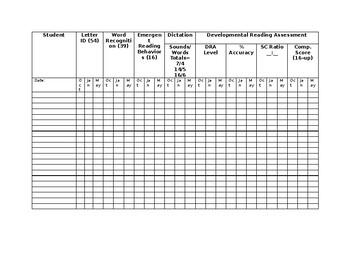 DRA Data Collection Spreadsheet