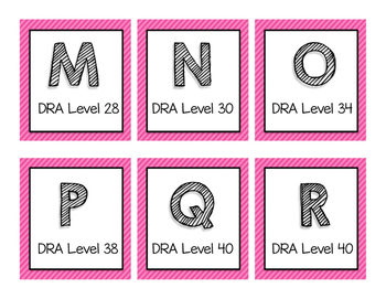 DRA & Guided Reading Book Bin Labels