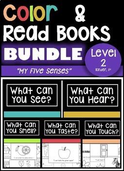 DRA LEVEL 2 - My Five Senses  BUNDLE